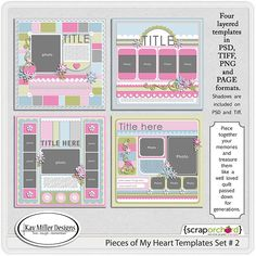 Pieces Of My Heart-2 by Kay Miller Designs