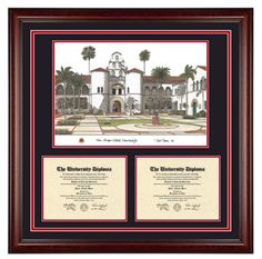 large double diploma with artwork