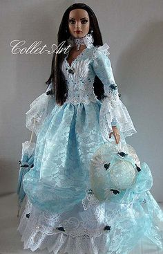 "2013 Tonner 22"" American Model OOAK Fashion Outfit ""Emma Grace of Virginia"" by Collet-Art 
