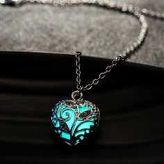 Hollow Heart Necklace Glow In The Dark