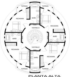 Basic design 2اساسيات التصميم المعماري: casa - Studio Round Building, Building Plans, Building Design, Building A House, The Plan, How To Plan, Layouts Casa, House Layouts, Round House Plans