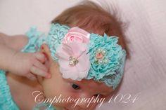 En la cabeza de bebé bebé Aqua y arco lactante diademas bebé niña diadema niña…