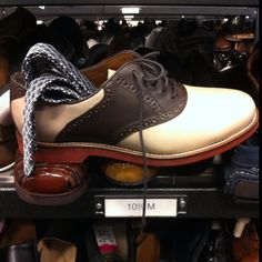 This tie was left stuffed into this shoe at Nordstrom Rack. Someone has good taste but no manners.