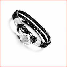 New Woven Titanium Bracelet,Genuine Leather Bracelet Men,Angel Wing 3A Zircon Bracelet & Bangles,Bracelet for Women Mens Jewelry
