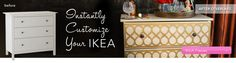 Overlays to customize furniture and cabinets. This is my best find on Pinterest yet! I'm giddy!