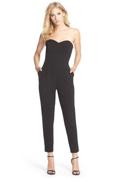 f36b12f9dba Black Jumpsuits Amp Rompers For Women Nordstrom Strapless Jumpsuit  Nordstrom Jumpsuit