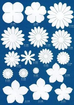 Discover thousands of images about Imprimir moldes para hacer flores en foami. Related Post 8 Patrones para hacer v. Giant Paper Flowers, Felt Flowers, Diy Flowers, Fabric Flowers, Flower Diy, Folded Paper Flowers, Paper Flower Art, Paper Daisy, Paper Butterflies