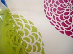 Flower Stencil Zinnia Grande SM - Stencils even better than wall decals - DIY decor. via Etsy.