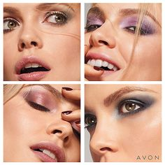 What's your favorite look? Choose one in the picture OR comment a picture of your favorite look! #eyeshadowsarefun #endlesspossibilities #love #Avon #Makeup