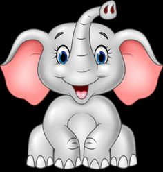 Illustration about Illustration of Cartoon cute baby elephant isolated on white background. Illustration of kind, small, friendly - 61061873