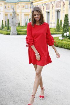 ab310f87f7 Czerwona sukienka Mastika  dress  reddress  sukienka  czerwonasukienka   outfit  ootd