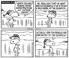 First Appearance: December 5th, 1967 #peanutsspecials #ps #pnts #peanuts #schulz #snoopy #worldfamous #skater #practicing #outsideeights #goldmedal #olympics #few #beagles #invited www.peanutsspecials.com