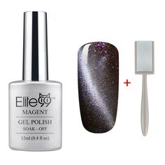 QIMISI Magnetic 3D Cat Eye Gel Polish Soak Off UV LED Nail Art Free Magnet 6581 Shimmer Black Currant ** Check out the image by visiting the link.