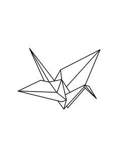 origami crane drawing - Buscar con Google