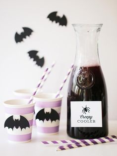 DIY Network has delicious drink recipes for a kids' Halloween party. (After the kids go to bed, make a spiked version for the adults.)