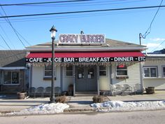 Best restaurant ever. Crazy Burger, Narragansett, RI.  Used to be called Pats Grill when I grew up on Boon Street!
