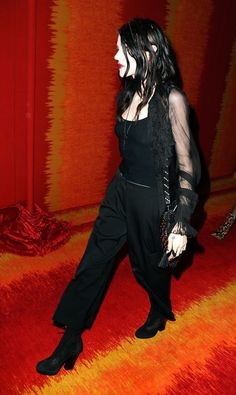 Frances Bean Cobain in all black at the HBO after party.
