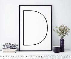 Letter D   ► Letters & Symbolen   Postersinhuis.nl