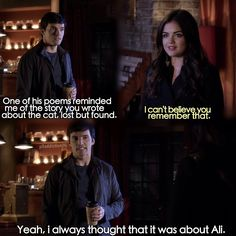 I always thought that it was about Ali..