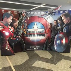 theater standee for 'Captain America: Civil War' (2016)