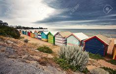 Brighton Bay Beachhouses In Melbourne Stadt, Australien Lizenzfreie Fotos…