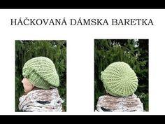 Crochet beret hat l adult size l Crochet Beret, Winter Hats, Knitting, Youtube, Hat Patterns, Tutorials, Tricot, Stricken, Knitwear