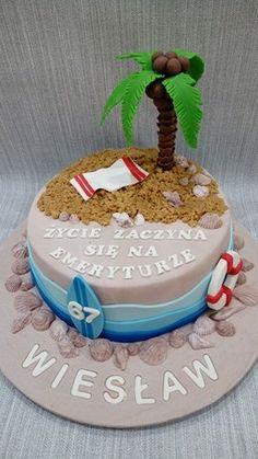 Tort Plaża na urodziny i wymarzoną emeryturę