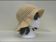 Mesh Sun Hat Crochet Tutorial - YouTube