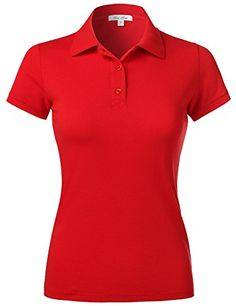 Purchase Luna Flower Women's Short Sleeve Cotton Slim Fit Polo Shirt at Discounted Prices ✓ FREE DELIVERY possible on eligible purchases. Luna Flower Women's Short Sleeve Cotton Slim Fit Polo Shirt Polo Tee Shirts, Slim Fit Polo Shirts, Polo Shirt Women, Pique Polo Shirt, Short Sleeve Polo Shirts, Shirt Sleeves, Tees, Golf Wear, Casual Tops