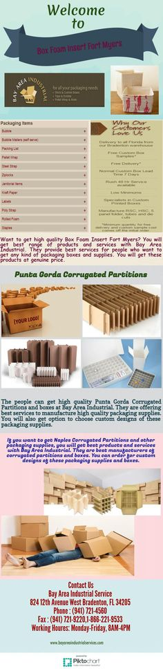 If you want to get Naples Corrugated Partitions and other packaging supplies, you will get best products and services with Bay Area Industrial. They are best manufacturers of corrugated partitions and boxes. You can order for custom designs of these packaging supplies and boxes.