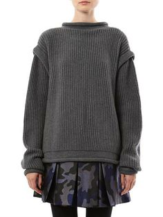 CHRISTOPHER KANE Ribbed-knit cashmere buckle cardigan