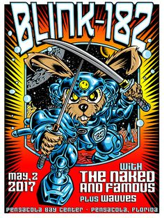TAZ Blink 182 Pensacola Poster Release http://ift.tt/2p2dZGb... #Arsetculture #Inside_the_Rock_Poster_Frame #Gig_Posters