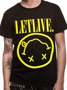 Officially licensed Letlive t-shirt design printed on a Black 100% cotton short sleeved T-shirt.