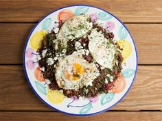 Beet and Lentil Salad with Feta and Fried Eggs | Instead I sauteed the onions and deglaze with anisette b/c I didn't have fennel. have fennel.  No to the dill.
