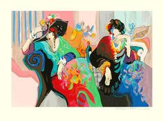 """Limited Edition Print """"La Vie Francaise"""" by Isaac Maimon"""