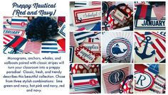 Preppy Nautical Red and Navy Blue | Schoolgirl Style