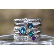 Birthstone Stacking Ring set Stacking Family & Mother's Rings