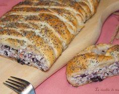STRUDEL SALATO RADICCHIO SPECK E NOCI – ricetta torta salata invernale