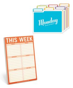 Another great find on #zulily! Days of the Week Folder & 'This Week' Notepad Set #zulilyfinds