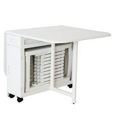 Table pliante avec 6 chaises int gr es archi table for Table pliante avec rangement chaise