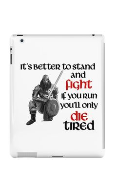 Viking Warrior - Stand and Fight iPad Case.  *Slim fitting one-piece clip-on case *Allows full access to all device ports *Extremely durable, shatterproof casing *Long life, super-bright colors embedded directly into the case