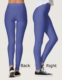 Your All One Color Leggings - Shade of Lavender Blue