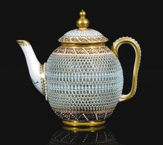 Fine Royal Worcester Reticulated teapot and cover. Dated 1878. Probably by George Owen | Sotheby's