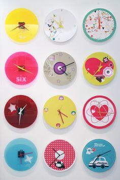 Wall clocks plexi glass & cardboard