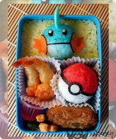 "Pokemon Bento Boxes! ""Mudkip, the Mud Fish Pokémon. - The Kyoto life in Japan--- I'm a secret pokemon addict at heart-- Flareon I love you"