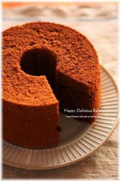 「濃〜いふわチョコシフォン♪」あいりおー | お菓子・パンのレシピや作り方【corecle*コレクル】 Different Cakes, Chiffon Cake, Sweet Cakes, Food Presentation, How To Make Cake, Cornbread, Tea Time, Banana Bread, Cheesecake