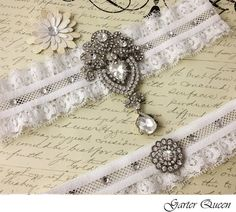 Bridal garter set  by GarterQueen, $69.99