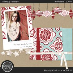 Holiday Card Kit - Digital Scrapbooking Freebie