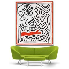 Keith Haring Ohne Titel Giclee Print on Canvas