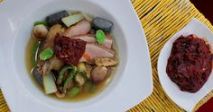 Duck Broth With Blue Corn Dumplings: http://gustotv.com/recipes/soups/duck-broth-blue-corn-dumplings/